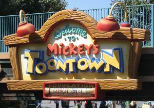 Disneyland ToonTown Sign