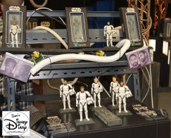 D-Tech me offered both the Han Solo Frozen in Carbonate (Same as 2012) and the new Storm Trooper Experience.