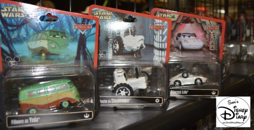 New for 2013... Star Wars / Cars! Combine classic Star Wars Characters with Disney/Pixar Cars.. and you get... Fillmore as Yoda, Matter as Darth Vader, and Lightning McQueen as Luke Skywalker.