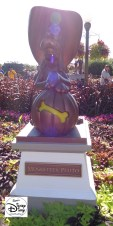 The Hub is decorated with special Halloween Statues.