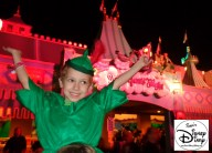 Peter Pan getting ready to ride his Flight.