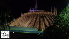 Space Mountain is covered with Spider Webs for Mickey's Not So Scary