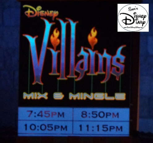 Villains Mix and Mingle Castle Stage Show is a must see at Mickey's No So Scary Halloween Party