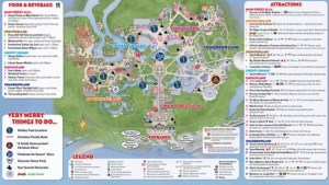 Mickey's Very Merry Christmas Party Map 2013