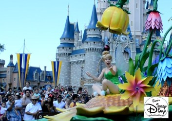 Tinker Bell on the back of the Peter Pan Float