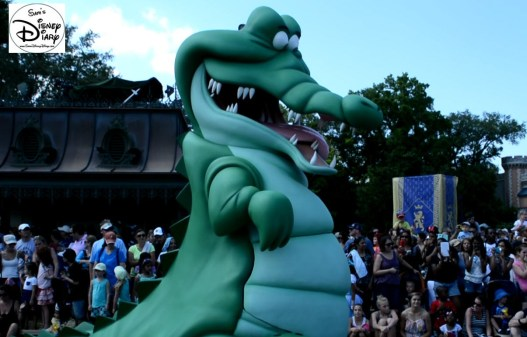 The croc follows behind the Peter Pan Float.