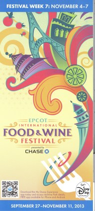 Epcot International Food and Wine Festival 2013 - Week 7 Map