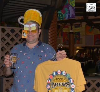 Epcot International Food and Wine Festival 2013 - Festival Center and Epcot Brews around the World 2013 T-shirt... I bought the shirt, not the hat or glasses ;-)