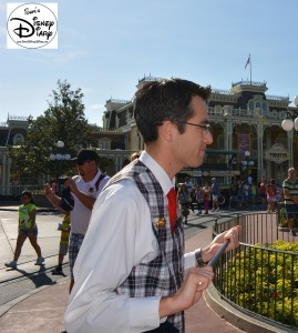 The park was crowded as we started down Main Street USA. James continued to point out interesting facts all the way down main street.