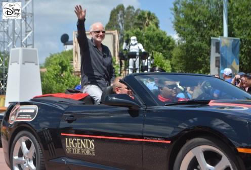 Ian McDiarmid participates in the Celebrity motor cade