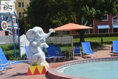 Baby Elephants provide a splash at the Kiddie Pool
