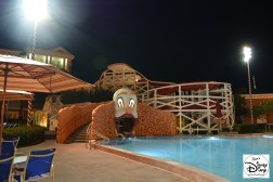 The Kiester Coaster after pool close.