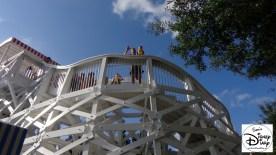 Waiting to ride the Kiester Coaster at Luna Park Walt Disney World Boardwalk