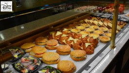 """Les Halles Boulangerie & Patisserie features """"Fresh baguette Sandwiches"""" in addition to baked goods."""
