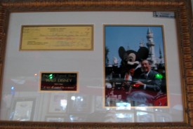 An authentic Walt Disney Signature was available for purchase into Sid's on-of-a-kind-shop