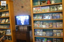 """Hollywood Studios """"Writer's Stop"""" with the upgraded Television and rack of DVD/BluRay"""