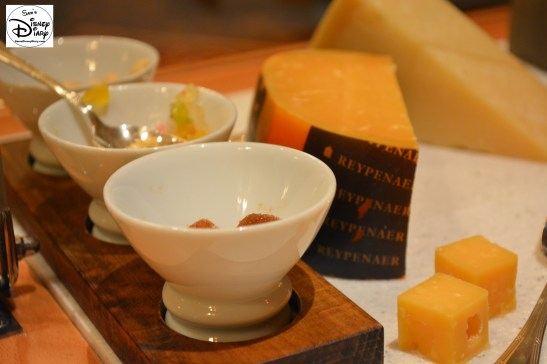 Victoria and Albert's: Queen Victoria Room: The Selection of Cheeses includes a variety of sides to complement each selection