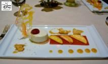 Victoria and Albert's: Queen Victoria Room: Course #9: Dessert Course #1: Greek Yogurt Panna Cotta with Peaches