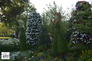 Epcot Flower and Garden Festival - Anna and Elsa Topiaries