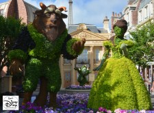 Epcot Flower and Garden Festival - Beauty and the Beast Topiaries in France