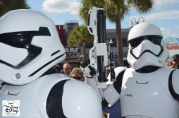 First Order Troopers patrol The Animation Courtyard.