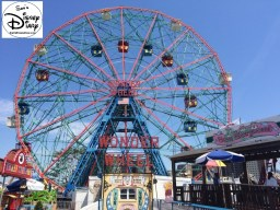 The Wonder Wheel at New York's Coney Island Served as the inspiration for the Design of Mickey's Fun Wheel
