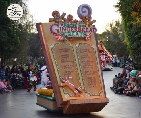 SamsDisneyDiary 82: Disneyland Christmas Fantasy Parade - Gingerbread Treats