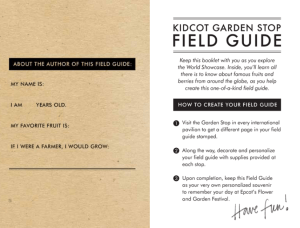 2017 Kidcot Garden Stop Field Guide page 1