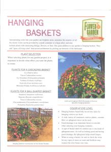 Epcot Flower and Garden Festival 2017 - Walt Disney World Hanging Baskets Page 1