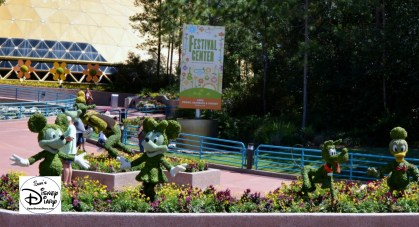 The 2017 Epcot International Flower and Garden Festival - The Festival Center - Open Friday, Saturday and Sunday 10-5.