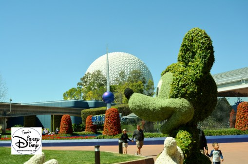 The 2017 Epcot International Flower and Garden Festival - Mickey in front of the festival center