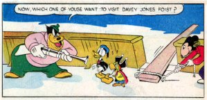 Donald Duck search's for Pirate Gold in an original Comic Book