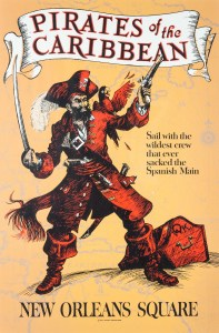 Pirates of the Caribbean attraction poster