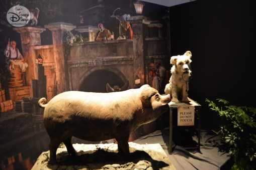 A Pig and a Dog, key elements of Pirates of the Caribbean, the Dog part of the D23 Expo Pirates Archive
