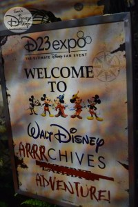 Welcome to the Walt Disney Arrrchives Adventure - D23 expo 2017