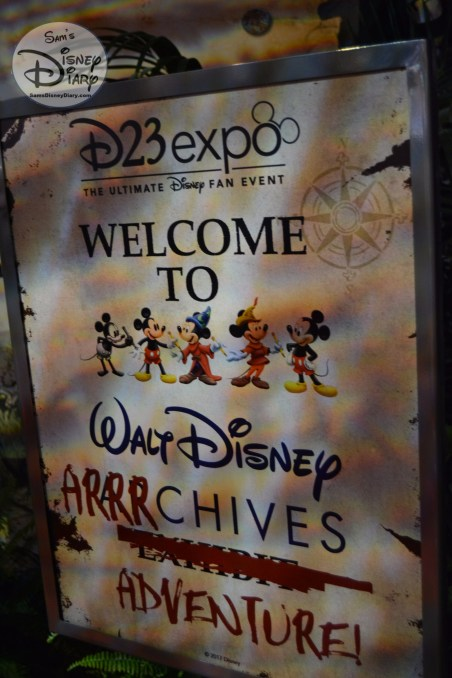 Welcome to the Walt Disney Arrrchives Adventure - D23 expo 2017