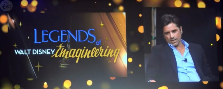 The Legends of Imagineering Panel was hosted by John Stamos.