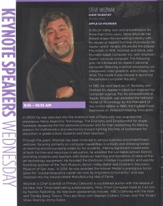 Steve Wozniak, Disney Data and Analytics Conference Keynote Address