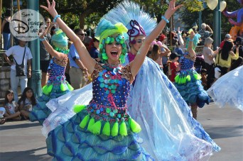 Colorful Dancers led the way for Sebastian's Calypso Carnival Parade Unit