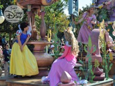 Royal Princess Romantic Melodies float featuring Disney Princesses