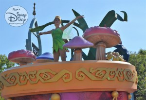 Tinker Bell - High above Peter Pan's Neverland Buccaneer Blast - Mickey's Soundsational Parade
