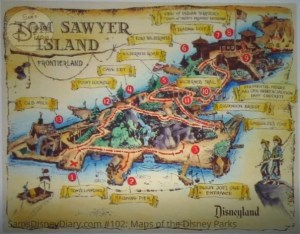 Disneyland Park Tom Sawyer Island explorer Map - From D23 Expo 2017 Maps of the Disney Parks and the book