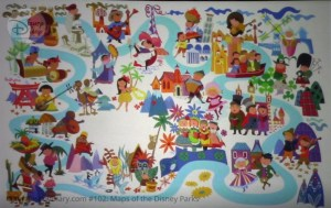 """Disneyland Park """"It's a Small World"""" Souvenir book Attraction Interior Map - From D23 Expo 2017 Maps of the Disney Parks and the book"""