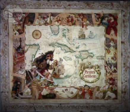 Disneyland Paras Park, Pirates of the Caribbean Prop Map - From D23 Expo 2017 Maps of the Disney Parks and the book