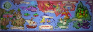 Tokyo Disney Sea, Sinbad's Storybook Voyage Attraction Mural - From D23 Expo 2017 Maps of the Disney Parks and the book