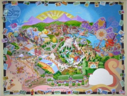 Disney California Adventure Fun Map - From D23 Expo 2017 Maps of the Disney Parks and the book