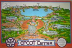 Walt Disney World EPCOT Center Fun Map - From D23 Expo 2017 Maps of the Disney Parks and the book