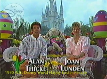 1990 Walt Disney World Happy Easter Parade - Co Hosts Alan Thicke and Joan Lunden