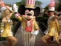 1995 Walt Disney World Easter Day Parade Mickey... with interesting facial hair.