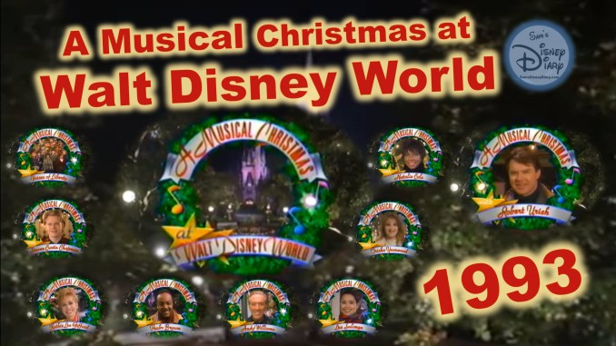 A Musical Christmas At Walt Disney World 1993 Sams Disney Diary